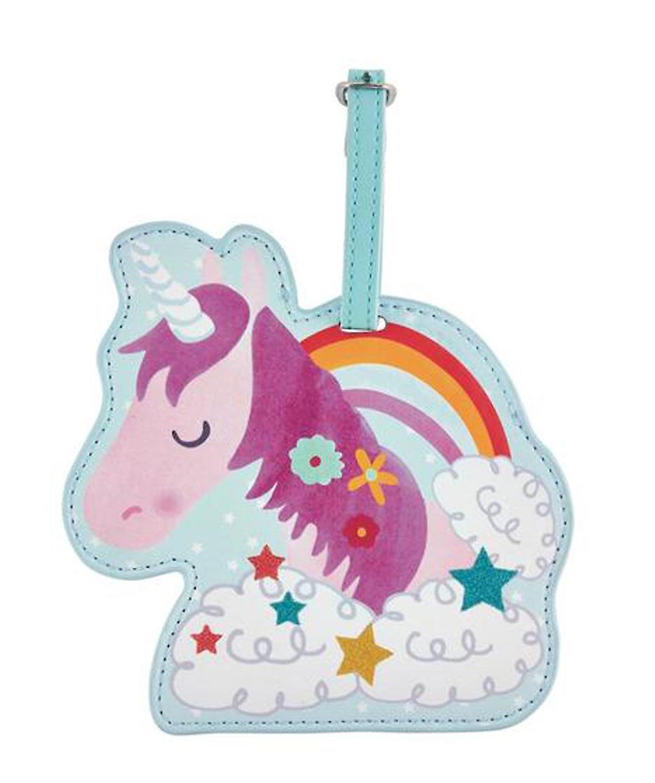 Childrens Unicorn chunky luggage tag