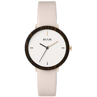 Mam Watches Ferra Watch for Japanese Quartz Analog Woman with Cowskin Bracelet 636