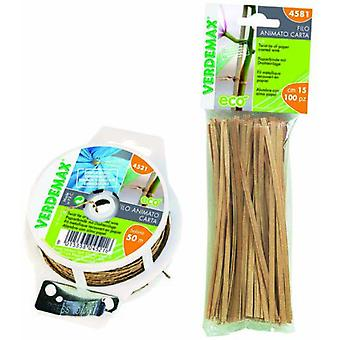 Bricomed Coated wire bio paper cut to 15 cm pack 100 unds (Garden , Gardening , Tools)