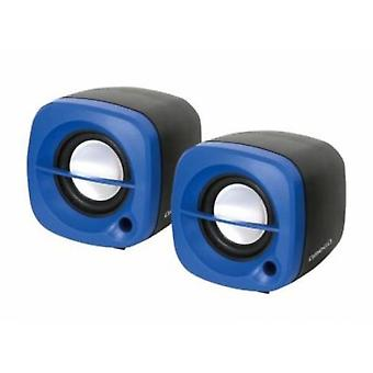 Omega Pc Speakers 2.0 Og-15 6W Usb Blue (Kitchen Appliances , Electronics)