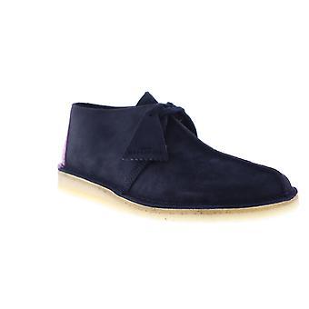 Clarks Desert Trek menns Blue Suede casual Lace up sko