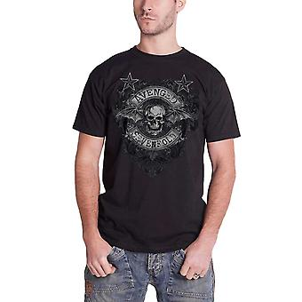 Avenged Sevenfold T Shirt blomstre død Bat band logo officielle sort Herre