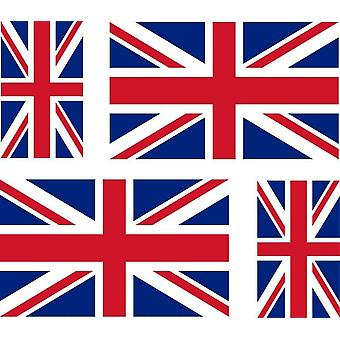 4 X Sticker Sticker Sticker Car Motorcycle Valise Pc Portable Flag UK UK U
