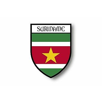 Sticker Sticker Motorcycle Car Blason City Suriname Flag