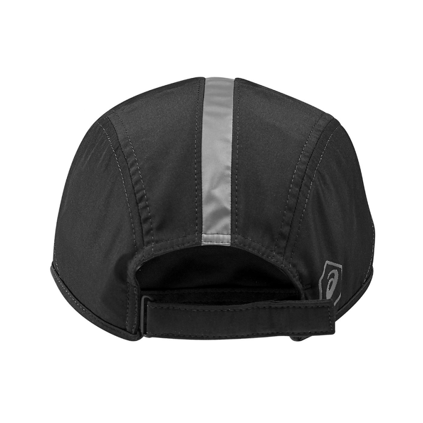 Asics Performance Running Exercise Fitness Training Cap Hat Black/Grey