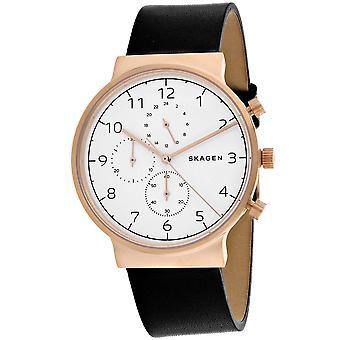 Skagen Men's Ancher White Dial Watch - SKW6371