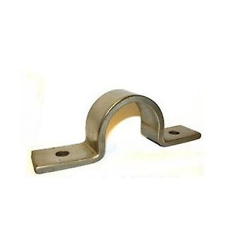 Pipe Saddle Clamp - Guide - 24 Mm Id, 23 Mm Ih, 40 X 6 Mm T304 Stainless Steel (a2)