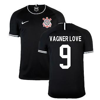 2019-2020 Corinthians Weg Nike Fußball Shirt (Vagner Love 9)