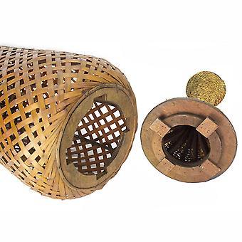 """12"""" X 12"""" X 41"""" Marrón bambú bambú bambú jarrón"""