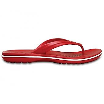 Crocs 11033 Crocband Flip Mens Flip Flops Pepper/white