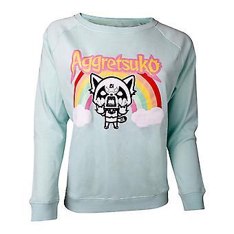 Aggretsuko Retsuko Rage Rainbow Sweater Female Large Green (SW631087AGG-L)