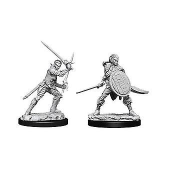 Pathfinder Batallas Deep Cuts Unpainted Miniaturas Luchadores Elfos Femenino (Pack de 6