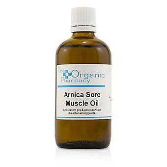O óleo de músculo dolorido de Arnica orgânico farmácia - 100ml/3,3 oz