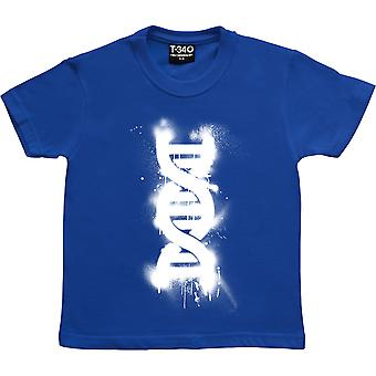 Double Helix graffiti Royal Blue lasten ' T-paita