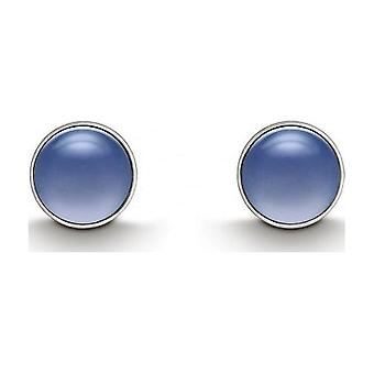 QUINN - Studearrings (Pair) - Argent - Gemstone - Chalcedony - 361809151