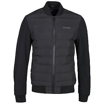 Calvin Klein termisk quiltet sort polstret jakke