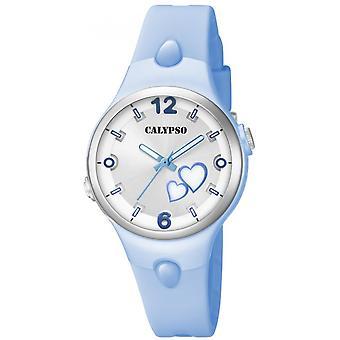 Calypso K5746-4 - söta tid armband silikon blå ruta visar R sine blå flicka