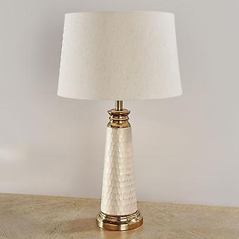 Endon Vivian 1 valo pöytä valo Vintage valkoinen & helmi vaikutus lasi 90587