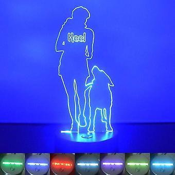 Hunden trening hæl farge skiftende LED akryl lys