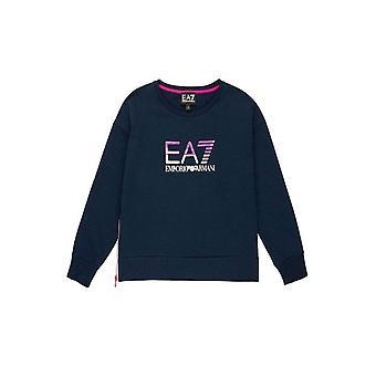 EA7 Girls Navy Blue Sweatshirt