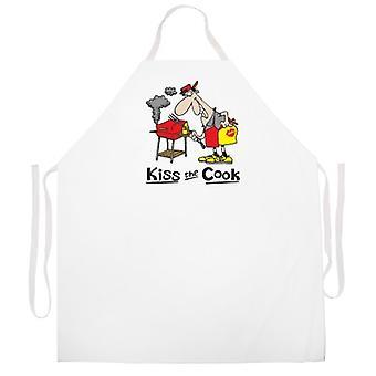 Tablier de dessin animé de kiss the Cook