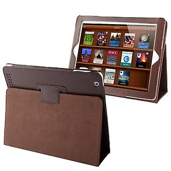 For iPad 2/3/4 Case,Modern Lychee Leather High-Quality Shielding Cover,Coffee