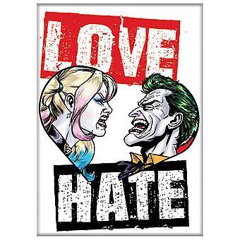 Harley Quinn und Joker Liebe und Hass Magnet
