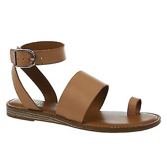 Franco Sarto Womens Gracious Leather Open Toe Casual Ankle Strap Sandals