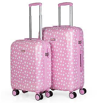 Conjunto de 2 malas de viagem de carrinho da assinatura de Itaca