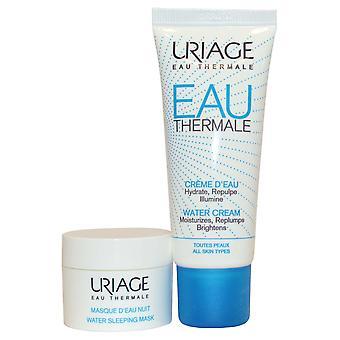 Uriage Eau thermale Bariederm vand creme fugt, Replump, lysne 40 ml alle hudtyper + søvn maske 15ml