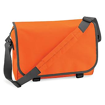 Messenger Bag - orange / grå