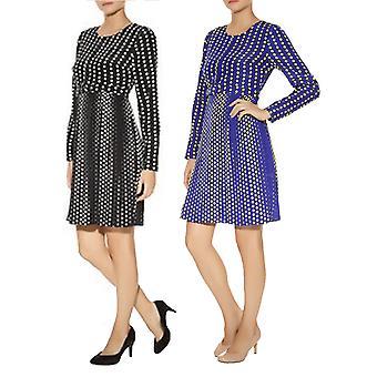 Darling Women's Pleated Long sleeved Meya Dress