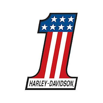 Harley davidson number 1 die cut embossed tin sign