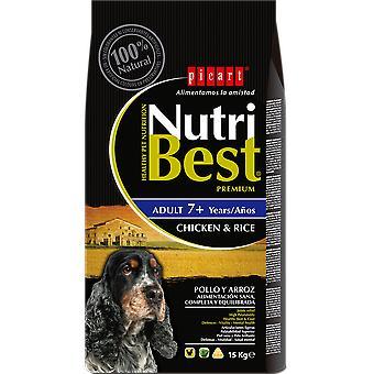 Picart Pienso para Perros Adultos Nutribest 7+ años (Cats , Cat Food , Dry Food)