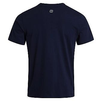 Berghaus Современный логотип Мужчины Короткие рукава Открытый футболка Tee военно-морской флот синий