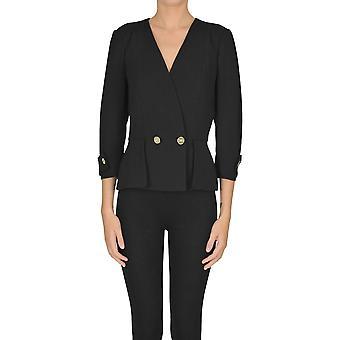 Elisabetta Franchi Ezgl026189 Women's Black Polyester Blazer