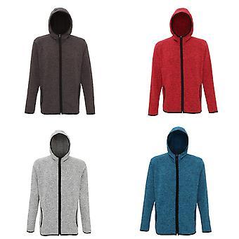 Tri Dri Mens Melange Knit Fleece Jacket