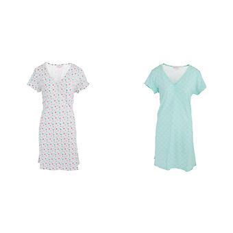 Womens/Ladies Lightweight Cotton Polka Dot/Floral Patterned Nightie