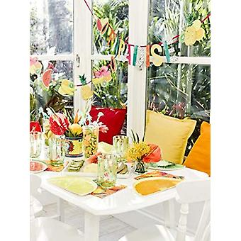 Tropical Fiesta Fruit Slice Plates x 12