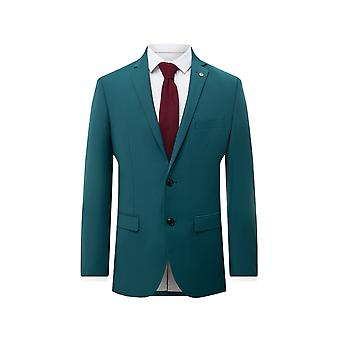 Avail London Mens Teal Suit Jacket Skinny Fit