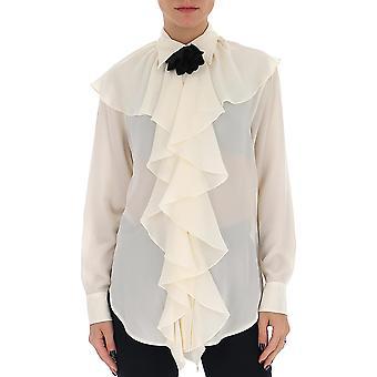 Victoria Beckham 1220wsh001373a Femmes-apos;s Blouse en soie blanche