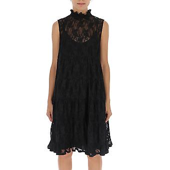 See By Chloé Chs19wro15024001 Women's Black Polyester Dress