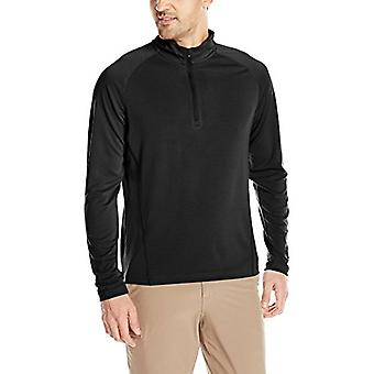 Charles River Apparel Men's Fusion Pullover Long Sleeve Quarter Zip, Black, XXL