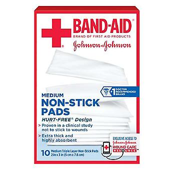 Band-aid non-stick pads, medium, hurt free, 2 inch x 3 inch, 10 ea