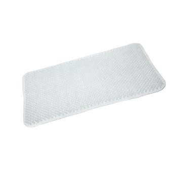 White Comfort PVC Bath Mat 65 X 37cm
