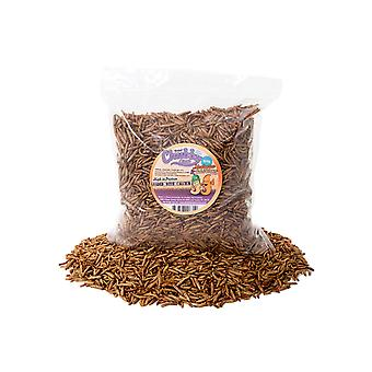 500g dried chubby mixes (mealworms & calci worms)