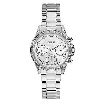 Guess W1293L1 Women's Gemini Silver Tone Wristwatch