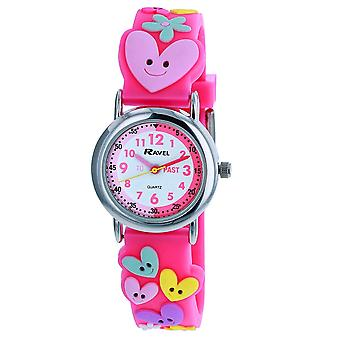 Ravel Children's Girl's 3D Hearts and Flowers Time Teacher Watch  R1513.82