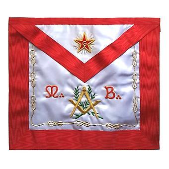 Masonic scottish rite apron - assr - master mason - square compass mb flaming star