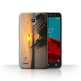 STUFF4 Case/Cover for Vodafone Smart Prime 6/Palm Trees/Sunset Scenery